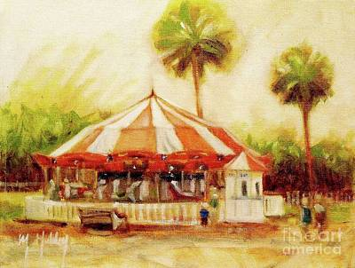 Painting - St. Augustine Carousel by Mary Hubley