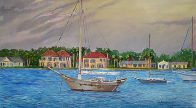 Painting - St Augustine Fl. by D T LaVercombe