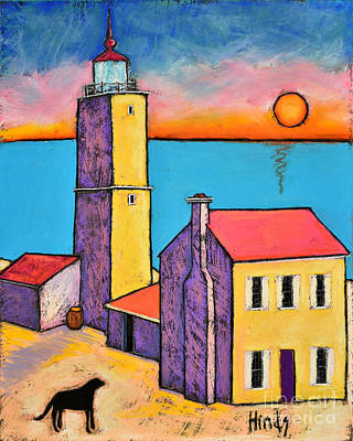 Whimsical Seascape Wall Art - Painting - St Augustine Lighthouse by David Hinds