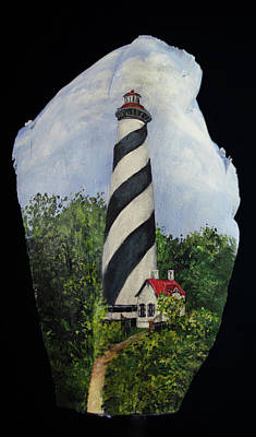 Painting - St. Augustine Light House by Nancy Lauby