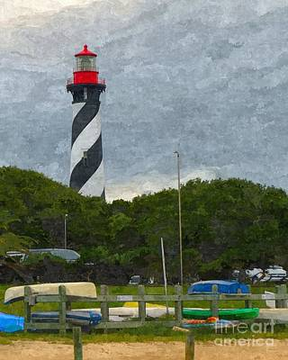 Rack Mixed Media - St. Augustine Lighthouse Boat Ramp by Jennifer Capo