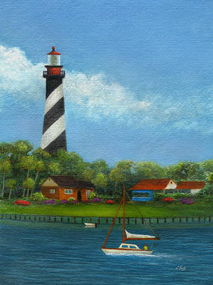 Orlando Painting - St. Augustine Lighthouse by Gordon Beck