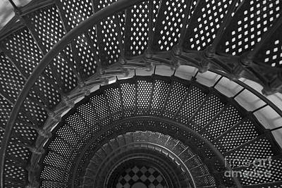 Photograph - St. Augustine Lighthouse Spiral Staircase I by Clarence Holmes