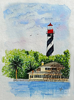 Painting - St Augustine Lighthouse  by Terri Mills