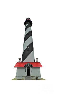 Photograph - St Augustine Lighthouse Transparent For T Shirts by D Hackett