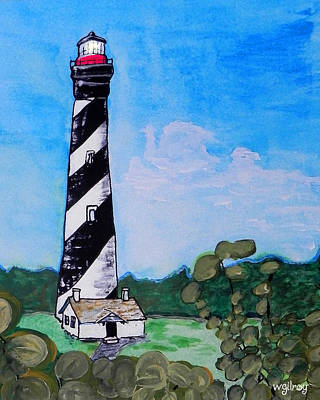 Cape Florida Lighthouse Painting - St. Augustine Lighthouse by W Gilroy