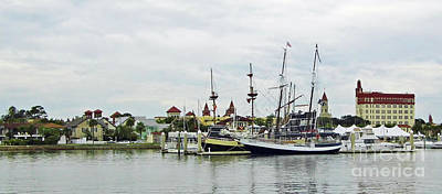 Photograph - St Augustine Marina From The Water by D Hackett