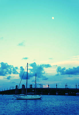 Photograph - St. Augustine Moon by Laurie Perry