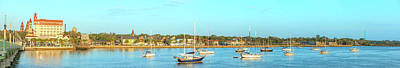 Art Print featuring the photograph St Augustine Panorama by Sebastian Musial