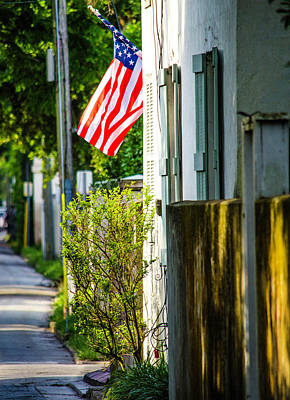 Photograph - St Augustine - Patriotism - Side Street Photography by Mary Ward