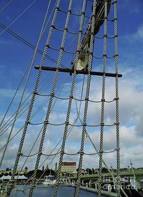Photograph - St Augustine Through The Rigging by D Hackett