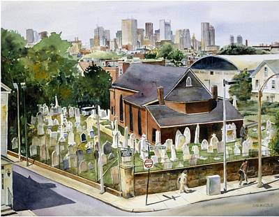 Southie Wall Art - Painting - St Augustine's Chapel by Dan McCole