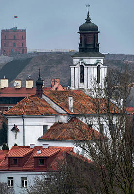 St Bartholomew And Vilnius Castle Art Print