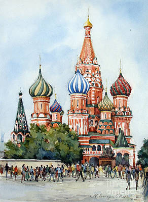 St. Basil Cathedral- Moscow -russia Original by Natalia Eremeyeva Duarte