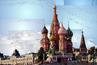 Digital Art - St. Basil's Cathedral In Moscow by Rafael Salazar