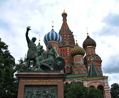 Photograph - St. Basil's Cathedral - Moscow by Jacqueline M Lewis