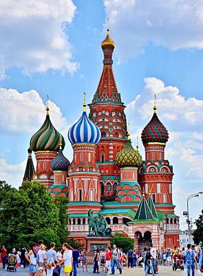 Photograph - St. Basil's Cathedral by Steven Liveoak