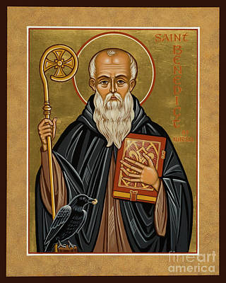 Painting - St. Benedict Of Nursia - Jcbnn by Joan Cole