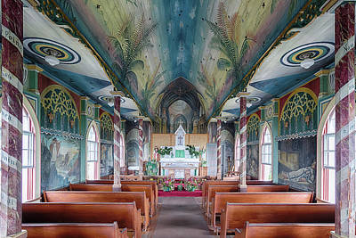 Photograph - St. Benedict Painted Church Interior 2 by Susan Rissi Tregoning