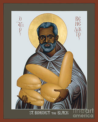 Painting - St. Benedict The Black - Rlbtb by Br Robert Lentz OFM