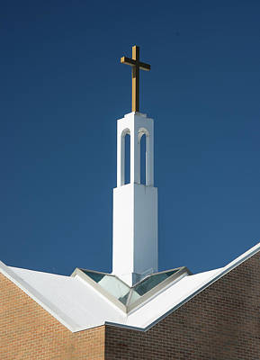 Photograph - St Benedicts Church Rooftop by Gary Slawsky