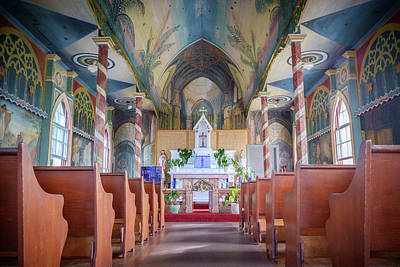 Photograph - St. Benedict's Painted Church In Hawaii - Horizontal by Mary Lee Dereske