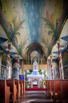 Photograph - St. Benedict's Painted Church In Hawaii - Vertical by Mary Lee Dereske