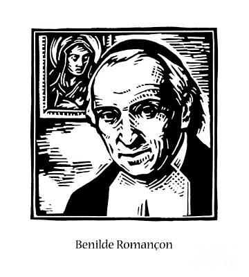 Painting - St. Benhilde Romancon - Jlbro by Julie Lonneman
