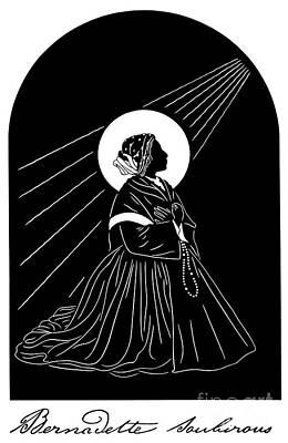 Painting - St. Bernadette - Dpber by Dan Paulos