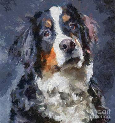 Dogs Painting - St. Bernard Dog  by Dragica  Micki Fortuna