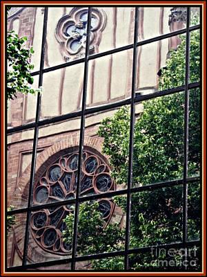 St Boniface Church In Reflection  Art Print by Sarah Loft