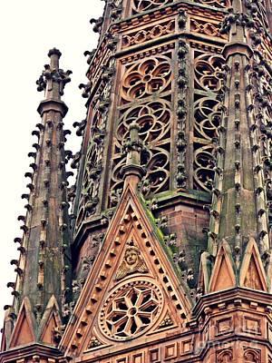 Photograph - St Boniface Church Tower Detail   by Sarah Loft