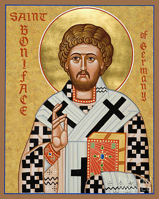 Painting - St. Boniface Of Germany - Jcbon by Joan Cole