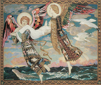 Seals Painting - St. Bride by John Duncan