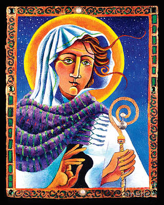Painting - St. Brigid - Mmbri by Br Mickey McGrath OSFS