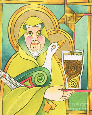 Painting - St. Brigid Of 100,000 Welcomes - Mmbhw by Br Mickey McGrath OSFS