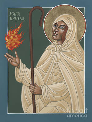 Painting - St Brigid Of Ireland 231 by William Hart McNichols