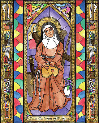 Painting - St. Catherine Of Bologna by Brenda Nippert