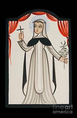 St. Catherine Of Siena Painting - St. Catherine Of Siena - Aocat by Br Arturo Olivas OFS