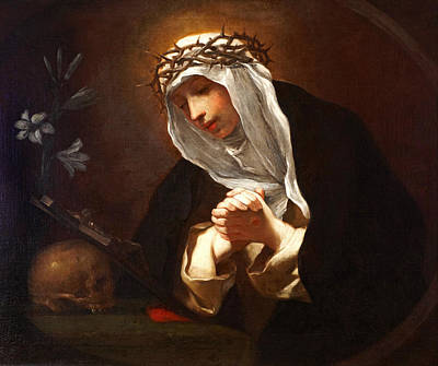 St Catherine Of Siena  Art Print by Baldassare  Franceschini