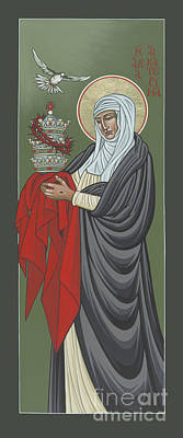 Painting - St Catherine Of Siena- Guardian Of The Papacy 288 by William Hart McNichols