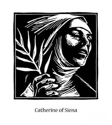 Painting - St. Catherine Of Siena - Jlcas by Julie Lonneman
