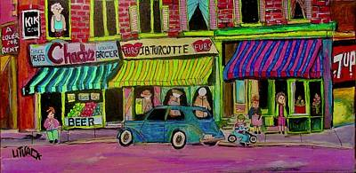 Painting - St. Catherine Street And St. Marc Montreal by Michael Litvack