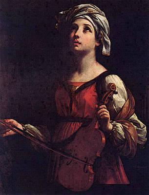 St Cecilia  Art Print