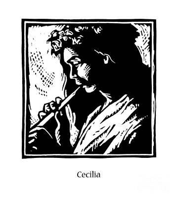 Painting - St. Cecilia - Jlcce by Julie Lonneman