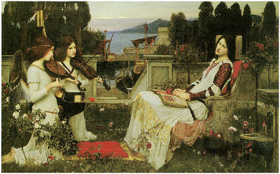 Woman Playing Violin Painting - St. Cecilia by John William Waterhouse