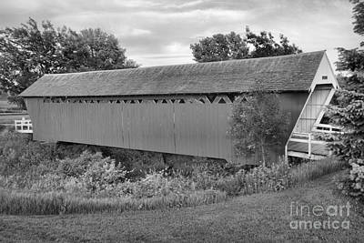 Photograph - St Chares Red And Green Scene Black And White by Adam Jewell