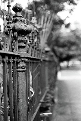 Photograph - St. Charles Ave Wrought Iron Fence by KG Thienemann