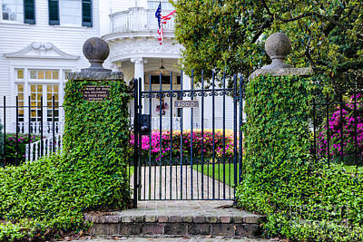 St Charles Avenue Photograph - St. Charles Avenue Gate And Home by Kathleen K Parker