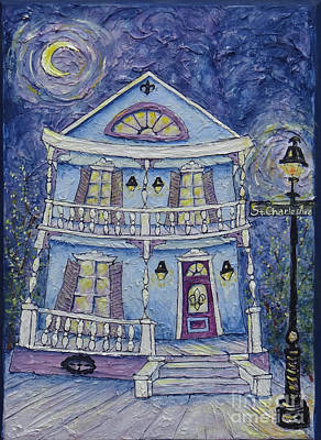 Painting - St. Charles Blue House by Catherine Wilson